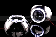 C-Max Shrouds, 3in,  w/Samsung LED Halo Rings, White